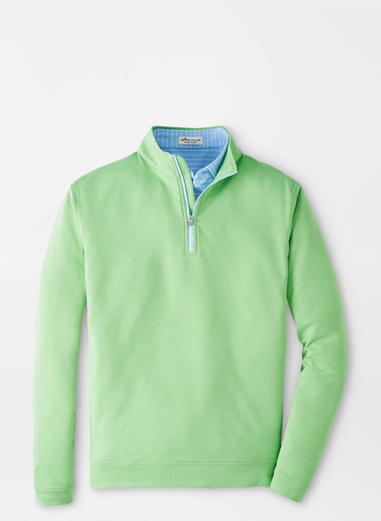 Mélange Perth Quarter-Zip Performance Pullover in Mint Leaf by Peter Millar