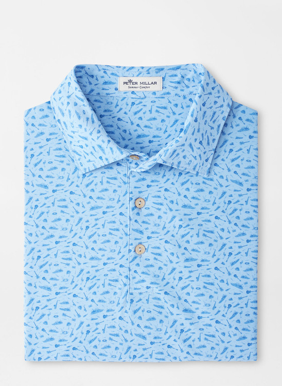 Griffins Performance Mesh Polo in Cottage Blue by Peter Millar