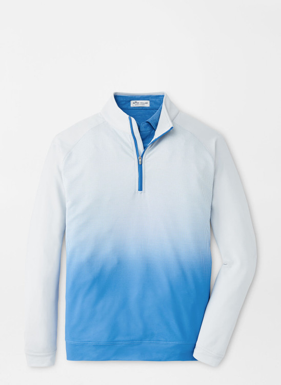 Dip-Dye Perth Performance Pullover in Blue River by Peter Millar