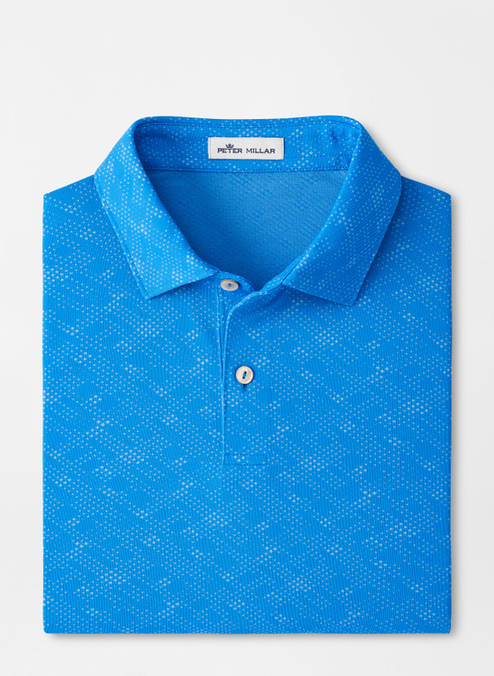 Carl Geometric Performance Jacquard Polo in Blue River by Peter Millar