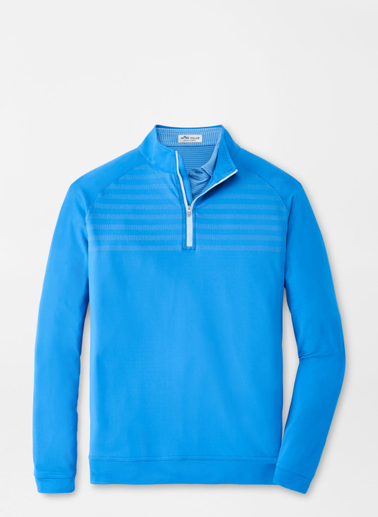 Engineered Stripe Perth Performance Pullover in Blue River by Peter Millar