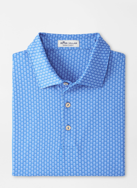Backyard Performance Jersey Polo in Blue River by Peter Millar