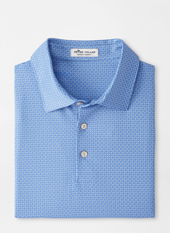 Brooks Performance Jersey Polo in Cottage Blue by Peter Millar