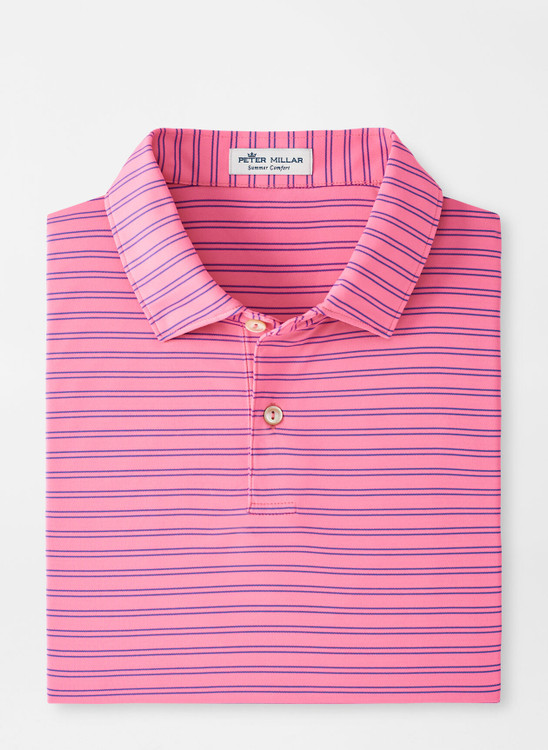 Featherweight Performance Polo in Pink Caliente by Peter Millar