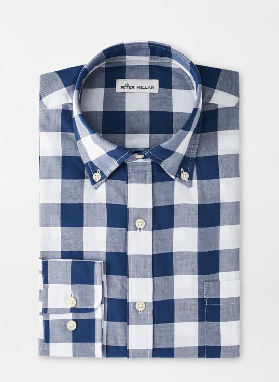 Jones Beach Cotton Sport Shirt in Atlantic Blue by Peter Millar