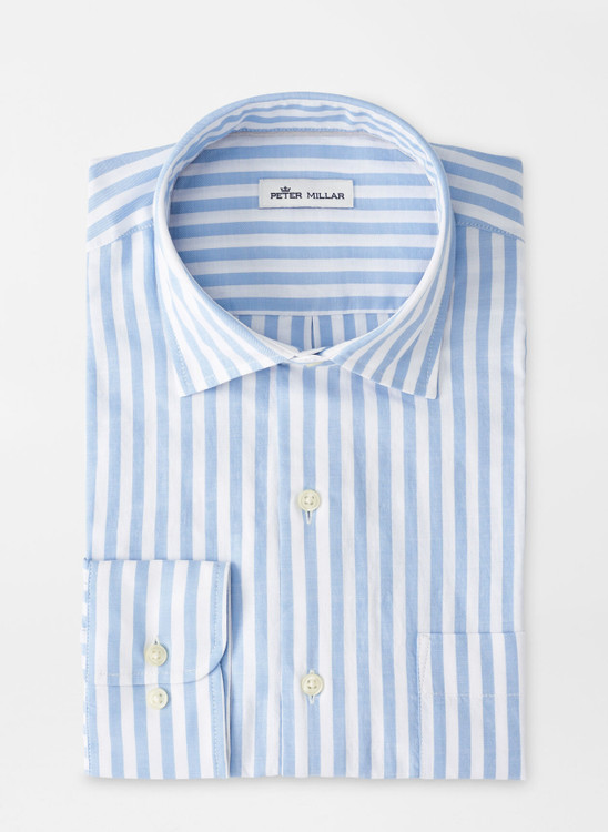 Surfside Cotton Sport Shirt in Coastal Blue by Peter Millar