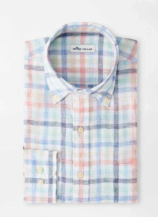 Silver Sands Linen Sport Shirt in Multi by Peter Millar