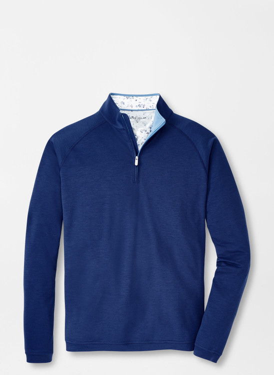 drirelease® Natural Touch Quarter-Zip in Atlantic Blue by Peter Millar