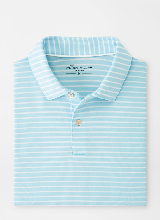 drirelease® Natural Touch Stripe Polo in Bayside Blue by Peter Millar