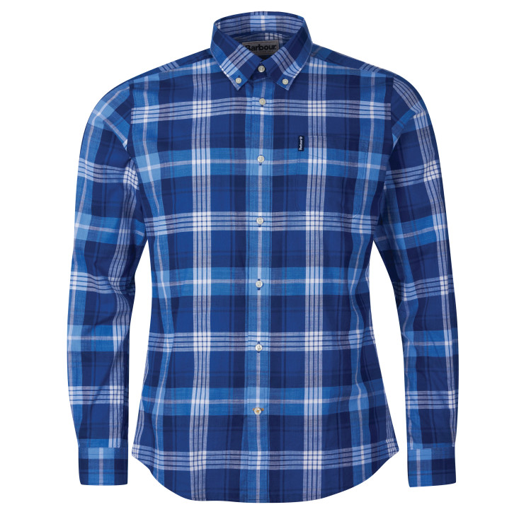 Barbour Highland Check 37 Tailored Shirt in Blue by Barbour