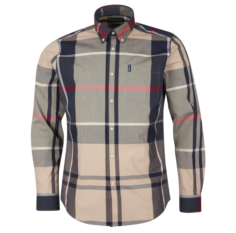 Barbour Tartan 12 Tailored Shirt in Stone by Barbour