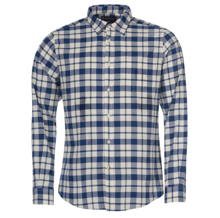 Barbour Sealton Shirt in Washed Navy by Barbour