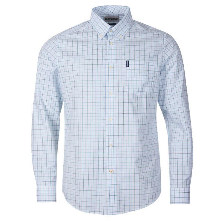 Barbour Tattersall 16 Tailored Shirt in Light Blue by Barbour