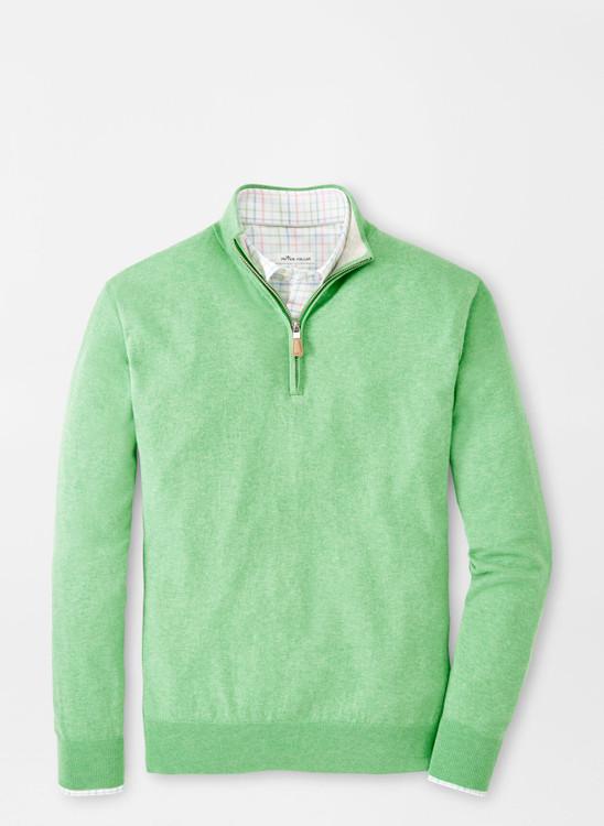Crown Soft Quarter-Zip Sweater in Mint Leaf by Peter Millar