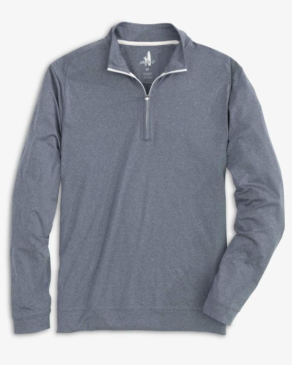 Flex PREP-FORMANCE 1/4 Zip Pullover in Heather Navy by johnnie-O