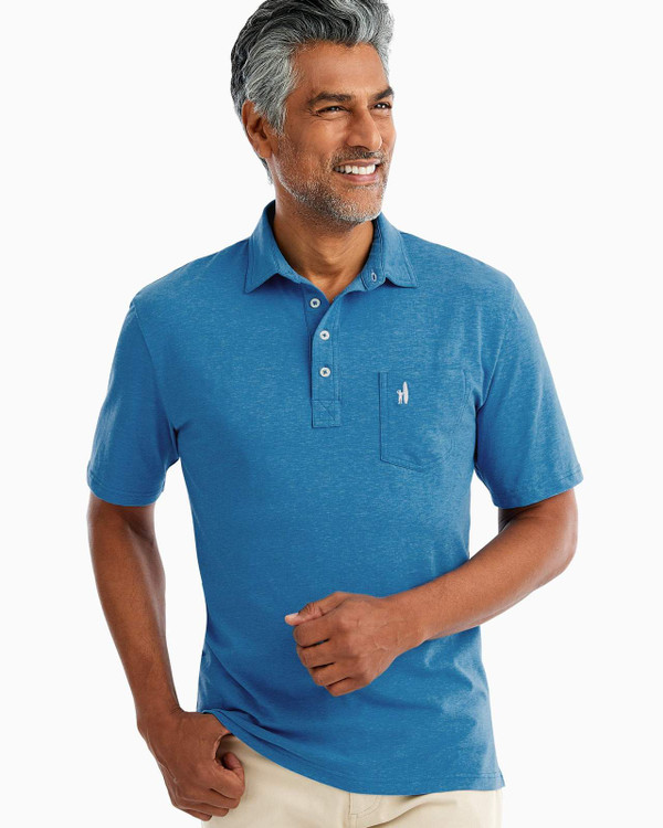The Original 4-Button Polo - Heathered in Tahiti by johnnie-O