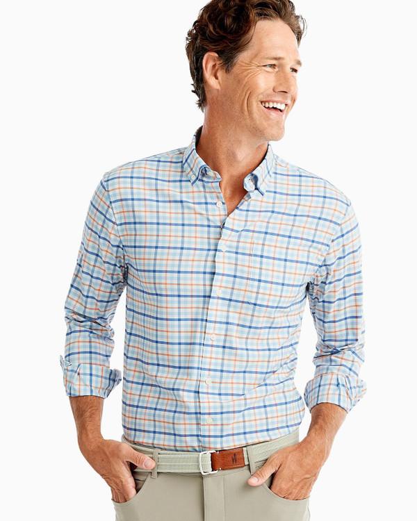 Mccoy PREP-FORMANCE Button Down Shirt in Gulf Blue by johnnie-O