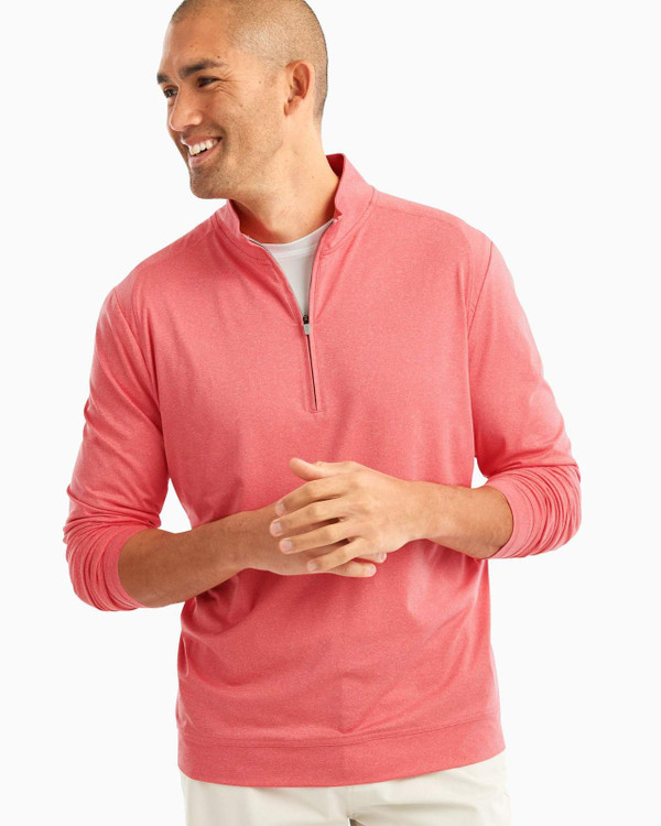 Flex PREP-FORMANCE 1/4 Zip Pullover in Conch by johnnie-O