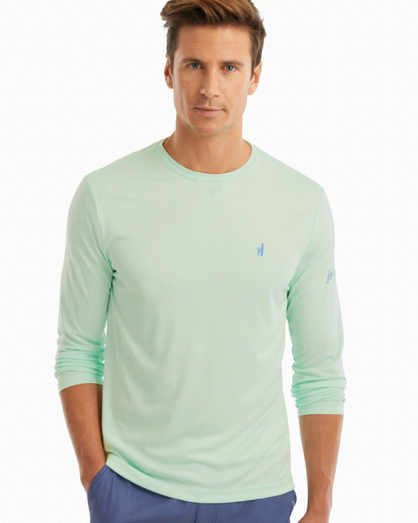 Sun-Daze Long Sleeve Sun Shirt in Icy Mint by johnnie-O
