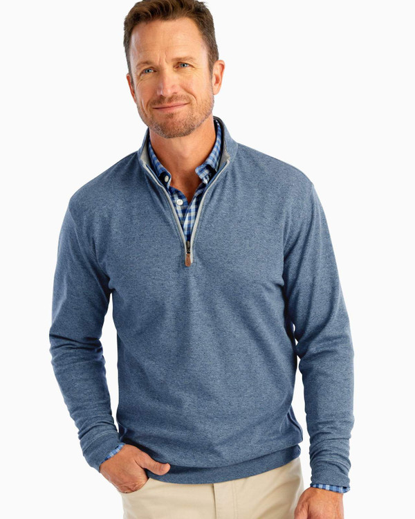 Sully 1/4 Zip Pullover in Adrift by johnnie-O