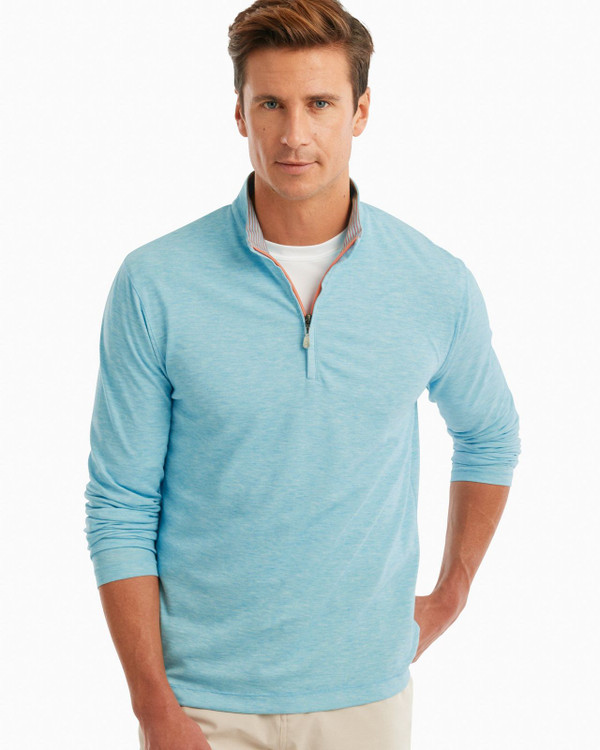 Randall PREP-FORMANCE 1/4 Zip Pullover in Barbados Blue by johnnie-O