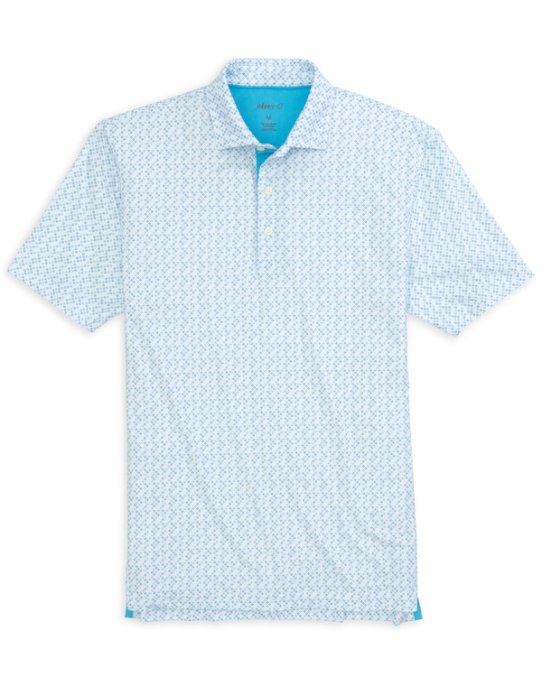 Birdie PREP-FORMANCE Jersey Polo - Doncaster Print in Delray by johnnie-O