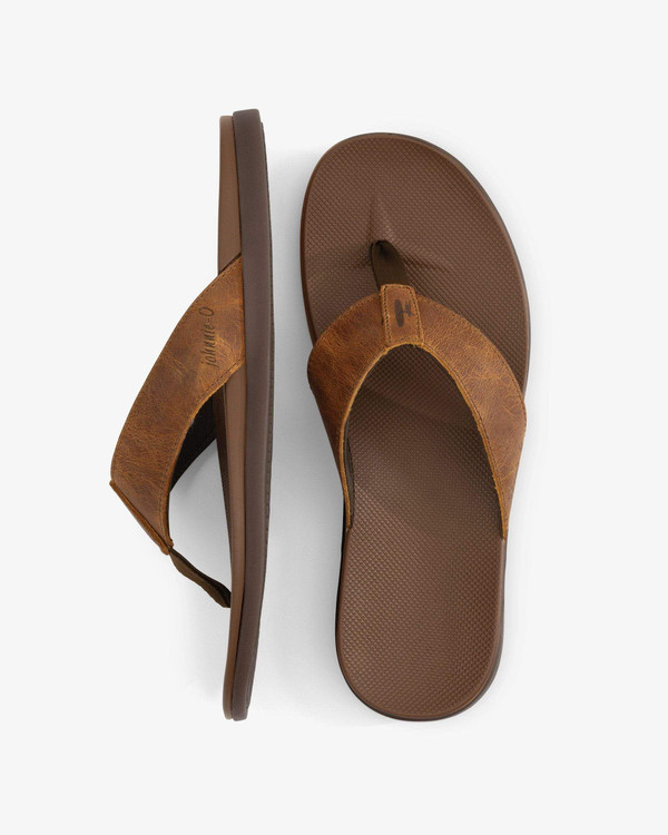 Leather Dockside Sandals in Brown by johnnie-O
