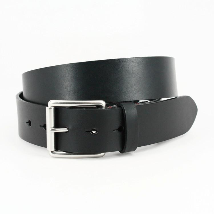 Hand Burnished Bridle Leather in Black by Torino Leather Co.