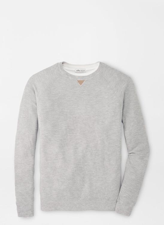 Crown Soft Honeycomb Crewneck Sweater in British Grey by Peter Millar