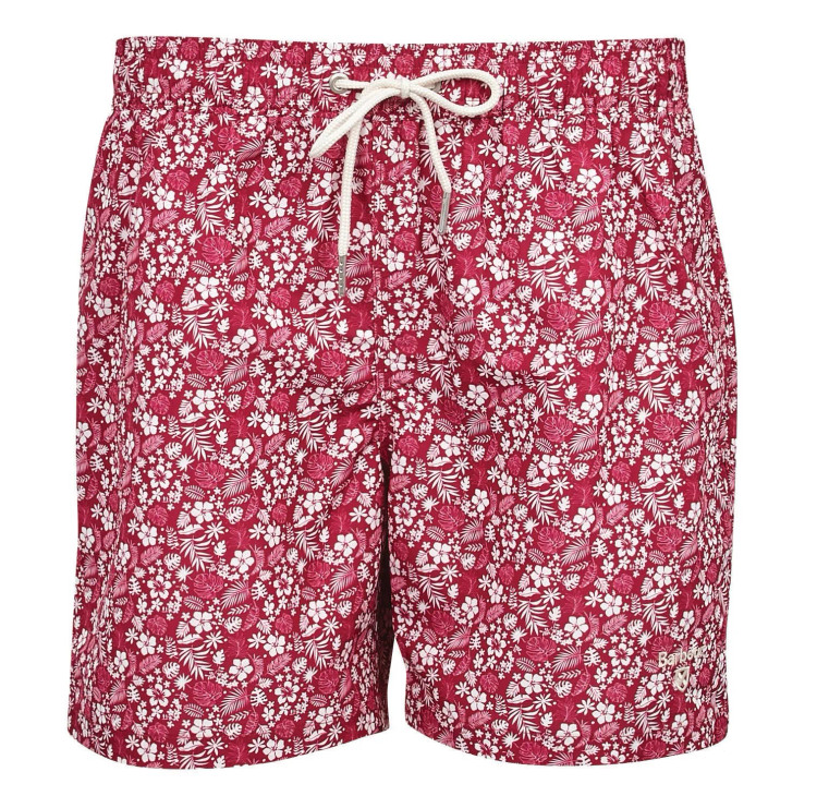 Crescent Swim Short in Raspberry by Barbour