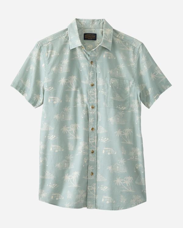Short-Sleeve Shoreline Shirt in Lagoon by Pendleton