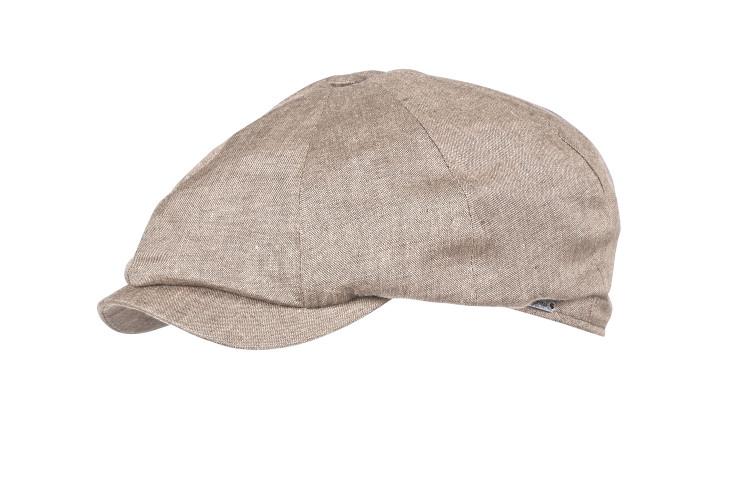 Classic Linen Newsboy Cap in Khaki by Wigens