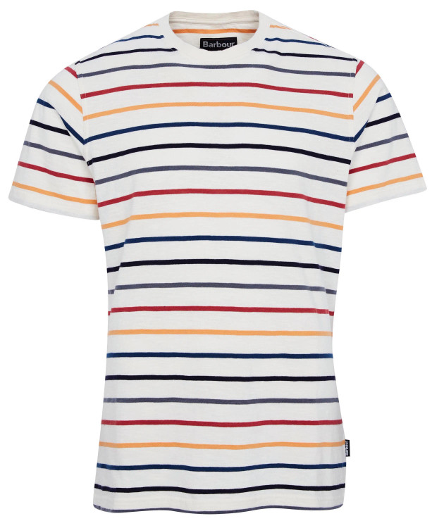 Summer Stripe Tee Shirt in Ecru by Barbour