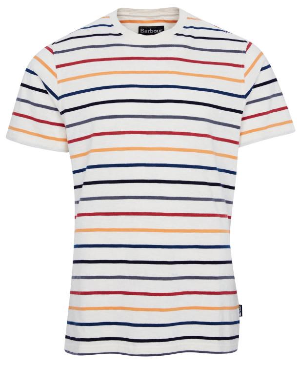 Summer Stripe Tee Shirt in Ecru by Barbour
