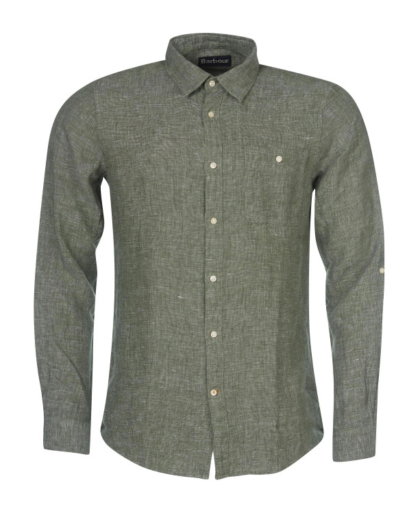 Warkworth Shirt in Light Moss by Barbour
