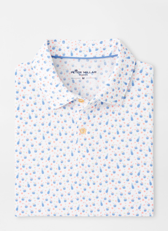 drirelease® Natural Touch Coconut Cocktails Polo in White by Peter Millar