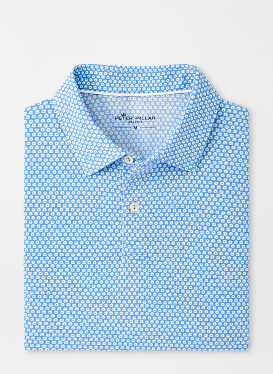 drirelease® Natural Touch Oyster Shell Polo in Coastal Blue by Peter Millar