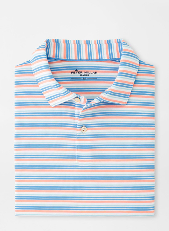 drirelease® Natural Touch Stripe Polo in Wild Salmon by Peter Millar