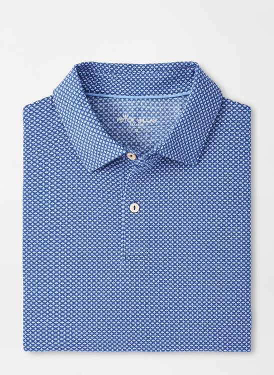 drirelease® Natural Touch Bouquet Polo in Atlantic Blue by Peter Millar
