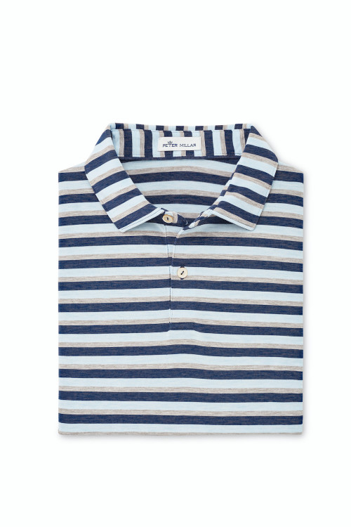 Dri-Release Natural Touch Stripe in Navy by Peter Millar