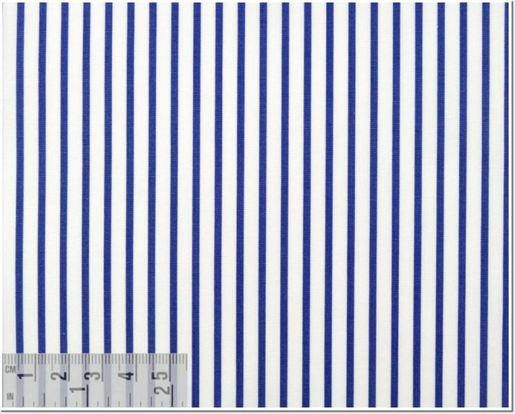Poplin Stripe 120's 2-Ply Custom Dress Shirt in Dark Blue (1367) by Emanuel Berg