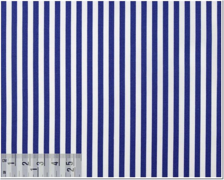 Poplin Stripe 120's 2-Ply Custom Dress Shirt in Royal Blue (1911) by Emanuel Berg