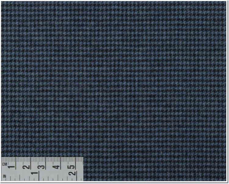 Twill Melange Check Custom Dress Shirt in Dark Blue (1957) by Emanuel Berg