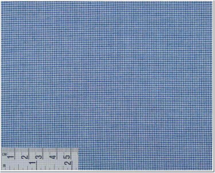 Twill Melange Check Custom Dress Shirt in Blue (1958) by Emanuel Berg