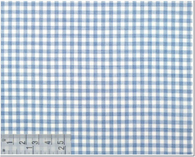 Twill Melange Check Custom Dress Shirt in Light Blue (1962) by Emanuel Berg