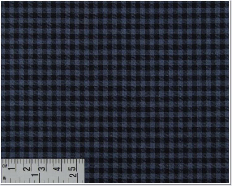 Twill Melange Check Custom Dress Shirt in Navy and Blue (1964) by Emanuel Berg