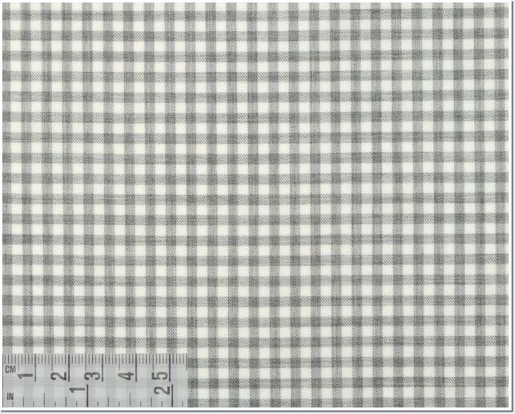 Twill Melange Check Custom Dress Shirt in Light Gray (1965) by Emanuel Berg