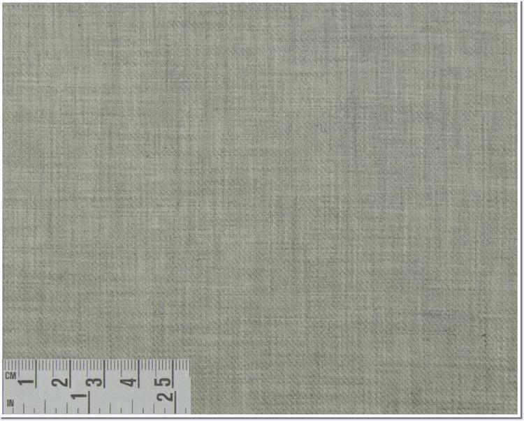 Twill Melange Solid Custom Dress Shirt in Light Gray (1969) by Emanuel Berg