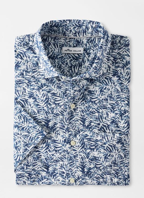 Whitepalm Cotton-Blend Sport Shirt in White by Peter Millar