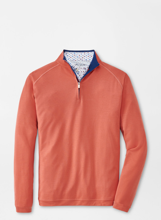 drirelease® Natural Touch Quarter-Zip in Clay Rose by Peter Millar